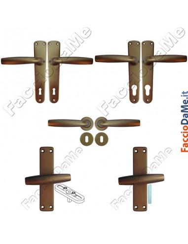 Maniglie cremonesi per porte e finestre serie standard in alluminio anodizzato bronzo - Ricambi per maniglie finestre in alluminio ...