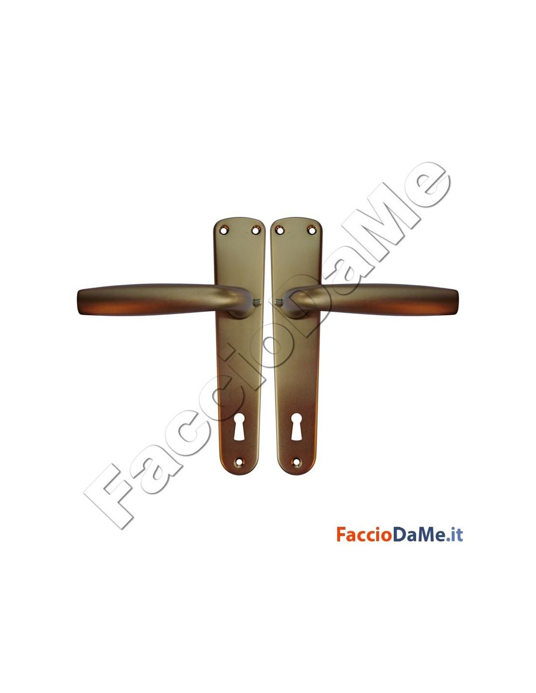Maniglie cremonesi per porte e finestre serie standard in alluminio anodizzato bronzo - Maniglie per porte e finestre ...
