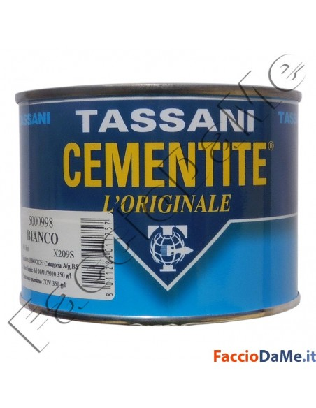 Cementite Tassani Sintetica L'Originale Pittura Opaca Colore Bianco 5000