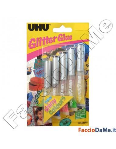 Uhu Glitter Glue per Decorare Decorazioni su Carta Cartoncino Stoffa
