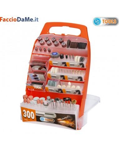 Kit 300 Mini Accessori Assortiti per Levigare Pulire Forare Ecc PG Tools PG300