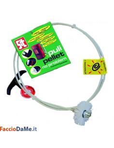 Kit Sit Pulipellet Asta Scovolo Flessibile per la Pulizia della Stufa a Pellet