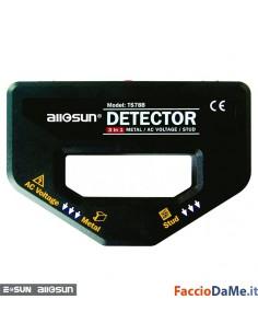 Misuratore 3 in 1 Localizza Metalli Chiodi Tensione con Buzzer Sonoro All Sun TS78B