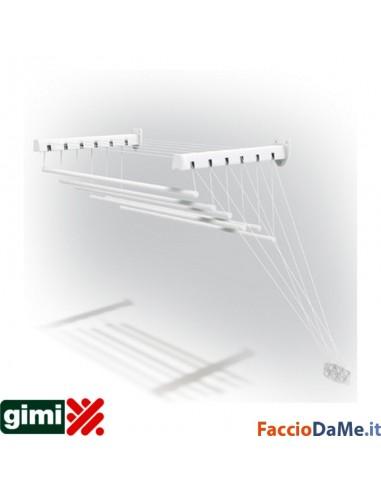 Stendibiancheria Stendino Stendipanni A Parete Soffitto Gimi Lift 120-140-160cm