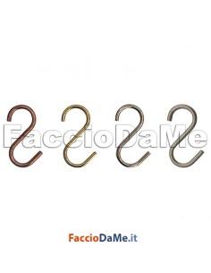6 Ganci a Esse S per Mestoli Tazze Tazzine Collane Cinture per Tubi da 13-16mm