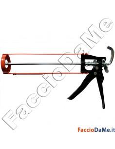 Pistola Silicone a Stelo Asta di Spinta in Acciaio Impugnatura Alluminio FU1535