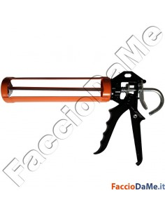Pistola Silicone a Stelo Professionale Impugnatura in Alluminio FU1545