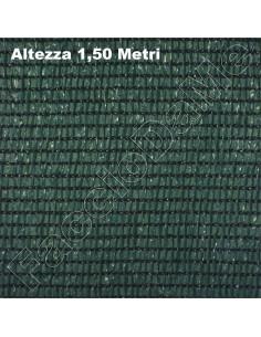 Rete Telo Ombreggiante Frangisole Frangivista Altezza 1,50 Metri Colore Verde