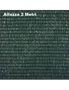 Rete Telo Ombreggiante Frangisole Frangivista Altezza 2 Metri Colore Verde