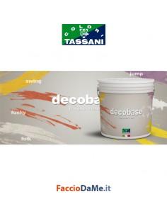 Pittura Decobase Base per Decorativi Tassani Colore Bianco Uso Interno 1-2,5lt