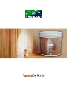 Effetto Decorativo Tassani FOLK Micrometallico Finitura ad Acqua Vari Colori 1 litro