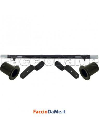 Sbarra Estensibile Blindo HIGH SECURITY per Balconi + Boccole + Naselli Staffe