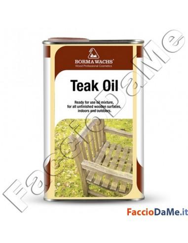Olio per Legno Teak Oil Borma Wachs Neutro Protettivo Idrorepellente Interno e Esterno