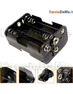 Portapile Porta 6 Pile Stilo AA 9v per Cassaforte Digitale Cisa