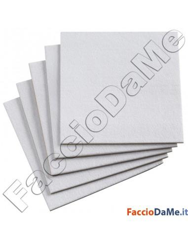 Feltro Adesivo Quadro Quadrato Colore Bianco Grande Misure 20x20 30x30 cm