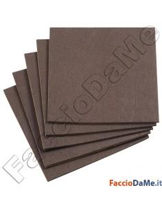 Feltro Adesivo Quadro Quadrato Colore Marrone Grande Misure 20x20 30x30 cm