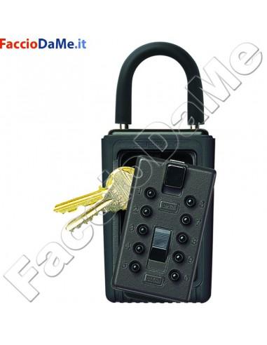 KeySafe Lucchetto Contenitore da Esterno con Gancio Massimo 3 Chiavi SGE1406