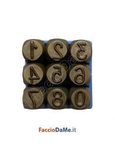 Punzoni in Acciaio Numeri mm.5-6-8-10 Alta Qualità Professionale