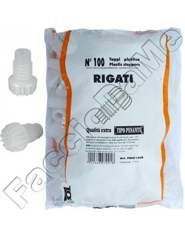 Tappi in Plastica Rigati Alettati Qualità Extra Tipo Pesanti 100 pezzi Stelplast