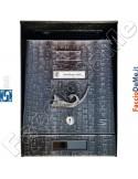 Cassetta Posta Postale Rustica Con tetto Colore Nero Sfumato Argento Silmec