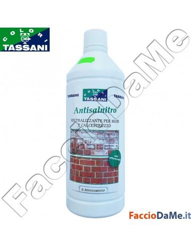Antisalnitro Neutralizzante per Muri e Calcestruzzo 1 litro Tassani 4250000