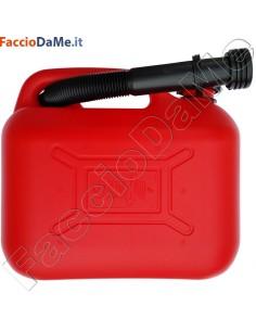 Tanica Plastica per Carburanti ad Alta Densità con Travasatore Omologata UN 5 litri