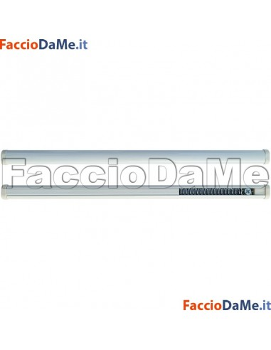 Bastone per Tenda a MOLLA OVALE Diametro 14mm BIANCO Varie Misure