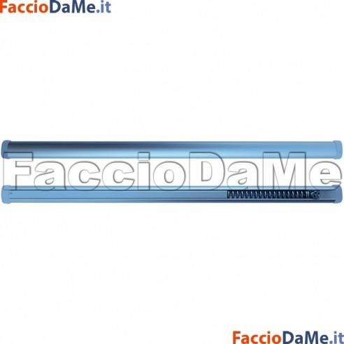 Bastone per Tenda a MOLLA OVALE Diametro 14mm NICHEL SATINATO Varie Misure