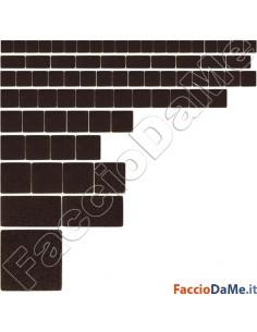 Feltrini Adesivi Quadri Quadrati Colore Marrone Marroni Varie Misure