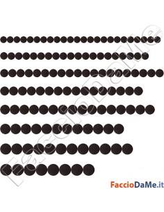 Feltrini Adesivi Rotondi Tondi Colore Marrone Marroni Diametro 20-22-24-26-28-30
