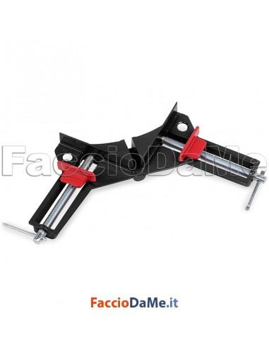 Morsa Morsetto ad Angolo in Alluminio per Cornici Apertura 75mm Lunghezza 225mm
