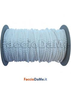 Catena Catenella a Sfera Sfere Palline in Plastica Colore Bianco per Tende