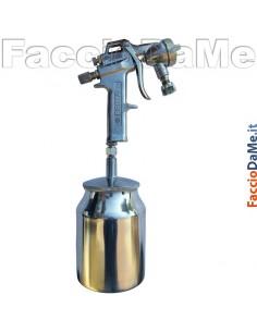 Aerografo Spray Gun Asturo Serie PRIMA 295 1000cc Serbatoio Inferiore in Alluminio
