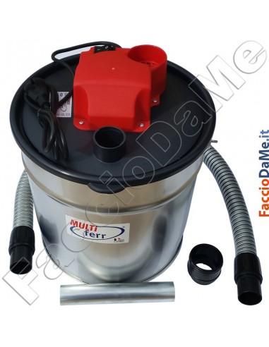 Aspiracenere Elettrico per Ceneri Capacità 18 litri 1200 watt MultiFerr