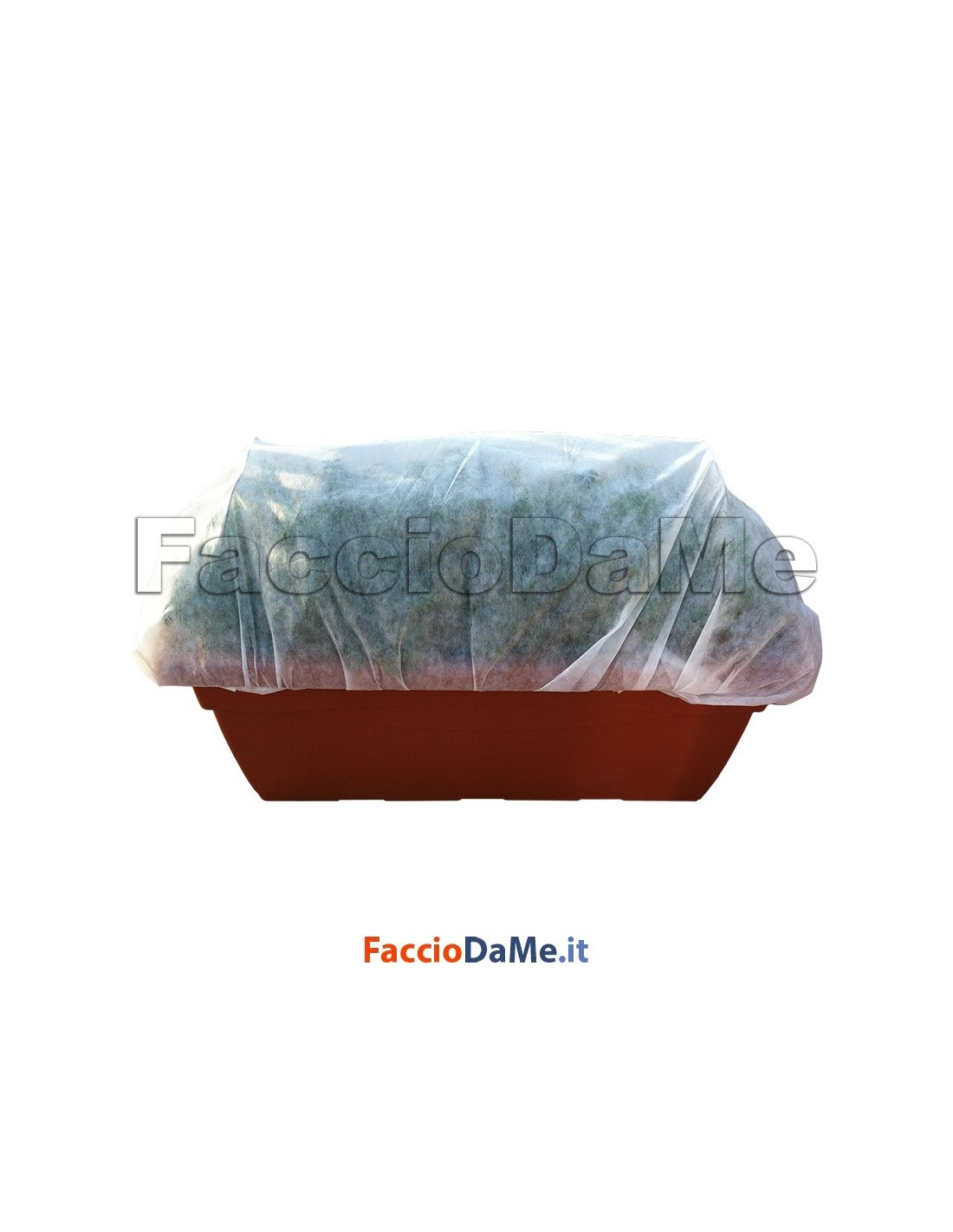 Telo Tnt Tessuto Non Tessuto Bianco Proteggi Fiori Piante Orto 1,60x10 metri