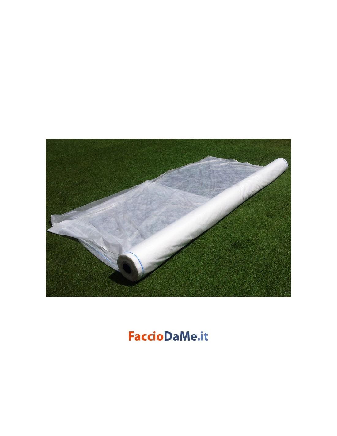 Telo tnt tessuto non tessuto bianco proteggi fiori piante orto 1 60x10 metri - Telo tessuto non tessuto giardino ...