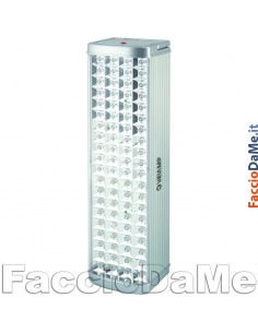 Lampada d'emergenza Ricaricabile Metalsafe 80 LED Antiblack Out Velamp IR118