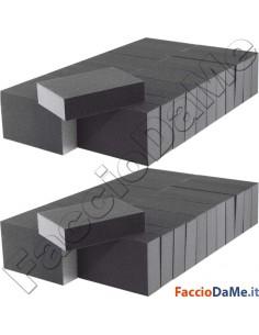 Spugne Spugnete Abrasive Carta Vetrata per Carteggiare Lucidare 50 pezzi Confezione