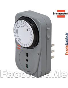 Timer Temporizzatore Orologio Meccanico Accensione Spegnimento Brennenstuhl MZ20