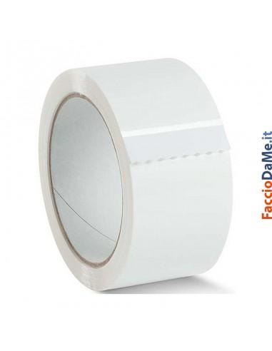 Nastro Adesivo Scotch per Imballo da Pacchi in PVC Bianco Rotolo 50mm x 66 metri
