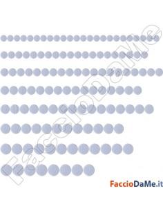 Feltrini Adesivi Rotondi Tondi Colore Bianco Bianchi Ø 18-20-22-24-26-28-30-32