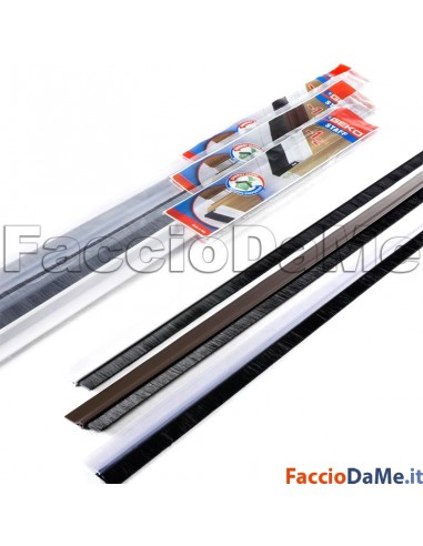 raspiffero Adesivo in PVC Rigido con Pennello Inferiore della Porta 1 metro