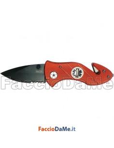 Coltello da Tasca First Aid Lama in Acciaio Inox Manico Alluminio Ausonia 26532