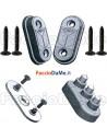 Fermascuri Magnetici con Calamita per Porte Finestre in ABS 2 Pezzi + Accessori