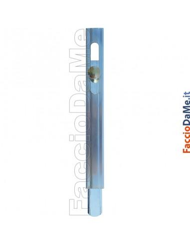 Catenaccio Verticale a Saldare Asta Rettangolare da 25mm Pesante Zincato Art.220