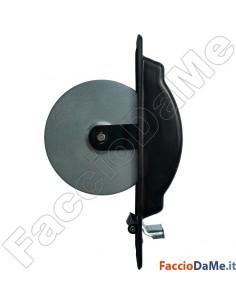 Avvolgitore Semincasso Laterale Destro e Sinistro Placca Acciaio Nera da 210mm