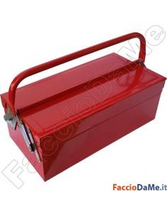 Cassetta Porta Utensili in Lamiera Verniciata 3 - 5 Posti Colore Rosso Banko