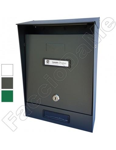 Cassetta Postale Tradizionale in Ferro con Tetto Vari ColorI Silmec 10-201