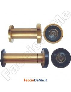 Spioncino Ottico per Porta a 4 Lenti Visuale 200° Diametro 16mm in Ottone