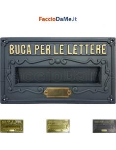 Alubox A8 Serie Antica in Ottone Placca Bucalettere Como Ritiro Posta Posteriore